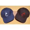 blue and black hats